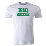 Iraq Soccer Supporter Men's Fashion T-Shirt (White)