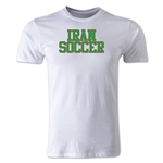Iran Soccer Supporter Men's Fashion T-Shirt (White)