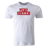 Peru Soccer Supporter Men's Fashion T-Shirt (White)