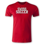 Swiss Soccer Supporter Men's Fashion T-Shirt (Red)