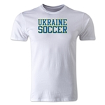 Ukraine Soccer Supporter Men's Fashion T-Shirt (White)