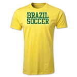 Brazil Soccer Supporter Men's Fashion T-Shirt (Yellow)