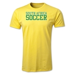 South Africa Soccer Supporter Men's Fashion T-Shirt (Yellow)