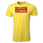 Belgium Soccer Supporter Men's Fashion T-Shirt (Yellow)