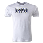 Colombia Soccer Supporter Men's Fashion T-Shirt (White)