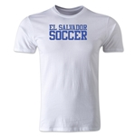 El Salvador Soccer Supporter Men's Fashion T-Shirt (White)