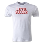 Latvia Soccer Supporter Men's Fashion T-Shirt (White)