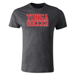 Tonga Soccer Supporter T-Shirt (Dark Gray)