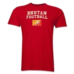 Bhutan Football T-Shirt (Red)