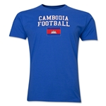 Cambodia Football T-Shirt (Royal)