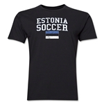 Estonia Soccer T-Shirt (Black)