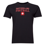 Switzerland Football T-Shirt (Black)