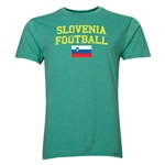 Slovenia Football T-Shirt (Heather Green)