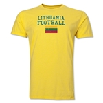 Lithuania Football T-Shirt (Yellow)