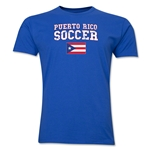 Puerto Rico Soccer T-Shirt (Royal)