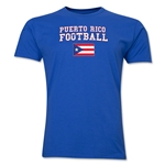 Puerto Rico Football T-Shirt (Royal)