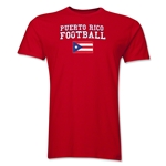Puerto Rico Football T-Shirt (Red)