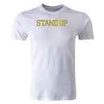 StandUp Logo Men's Fashion T-Shirt (White)