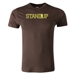 StandUp Logo Men's Fashion T-Shirt (Brown)