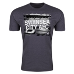 Swansea City Men's Fashion T-Shirt (Dark Gray)
