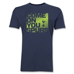 Tottenham Come On You Spurs Men's Fashion T-Shirt (Navy)