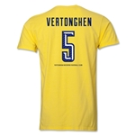 Tottenham Vertonghen Men's Fashion T-Shirt (Yellow)