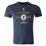 Chelsea 2013 UEL Final Men's Fashion T-Shirt (Navy)