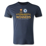 UEFA Europa League 2013 Chelsea Winner's Men's Fashion T-Shirt (Navy)