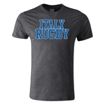 Italy Supporter Rugby T-Shirt (Dark Gray)