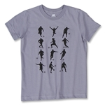 Soccer Figure Youth T-Shirt (Gray)