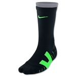 Nike Vapor Crew Sock-Large (Black/Lime)