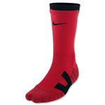 Nike Vapor Crew Sock Large (Red/Blk)