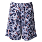 Under Armour Boy's Howie Dewdat Lacrosse Shorts (Navy/White)