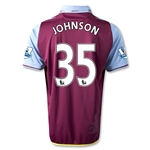 Aston Villa 12/13 JOHNSON Home Soccer Jersey