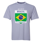 Brazil Copa America 2015 Shield Training T-Shirt (Grey)