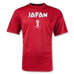 2014 FIFA World Cup Brazil(TM) Japan Core Training T-Shirt (Red)