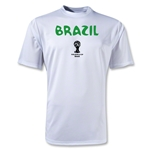 Brazil 2014 FIFA World Cup Brazil(TM) Core Poly T-Shirt (White)