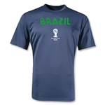 Brazil 2014 FIFA World Cup Brazil(TM) Core Poly T-Shirt (Navy)