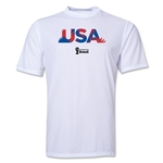 USA 2014 FIFA World Cup Brazil(TM) Men's Palm Training T-Shirt (White)