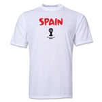 Spain 2014 FIFA World Cup Brazil(TM) Men's Core Training T-Shirt (White)