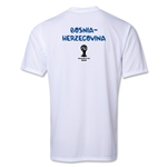 Bosnia-Herzegovina 2014 FIFA World Cup Brazil(TM) Men's Core Training T-Shirt (White)