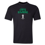 Cote d'Ivoire 2014 FIFA World Cup Brazil(TM) Men's Core Training T-Shirt (Black)
