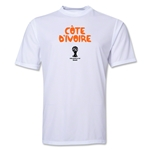 Cote d'Ivoire 2014 FIFA World Cup Brazil(TM) Men's Core Training T-Shirt (White)