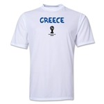 Greece 2014 FIFA World Cup Brazil(TM) Men's Core Training T-Shirt (White)