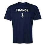 France 2014 FIFA World Cup Brazil(TM) Men's Core Training T-Shirt (Navy)