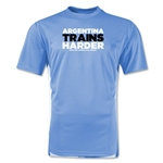 Argentina 2014 FIFA World Cup Brazil(TM) Men's Trains Harder T-Shirt (Sky)