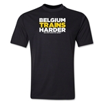 Belgium 2014 FIFA World Cup Brazil(TM) Men's Trains Harder T-Shirt (Black)