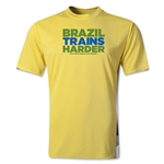 Brazil 2014 FIFA World Cup Brazil(TM) Men's Trains Harder T-Shirt (Yellow)