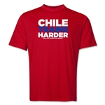 Chile 2014 FIFA World Cup Brazil(TM) Men's Trains Harder T-Shirt (Red)