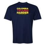 Colombia 2014 FIFA World Cup Brazil(TM) Men's Trains Harder T-Shirt (Navy)